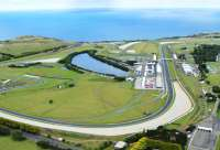 Aerial view of Phillip Island grand prix track circuit.